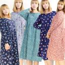 기모단추원피스(7056)/여성 잠옷원피스/홈웨어/엄마옷