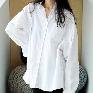 기본 셔츠 남방 오버핏 화이트 블랙 빅사이즈 유니폼