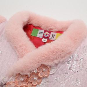 여아 유아 아동 털조끼 한복 조끼  겨울조끼 CA1904