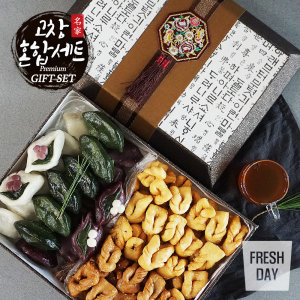 프레시데이  고창 삼경 고급 송편/약과 혼합세트
