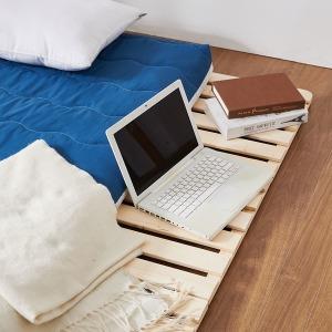 4단 접이식 저상형 원목 침대 깔판 프레임