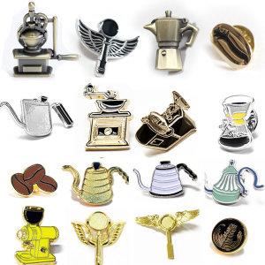 커피뱃지 바리스타 브로치 열쇠고리 커피키링