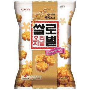 롯데제과 쌀로별 오리지날 78g /쌀과자/간식/안주