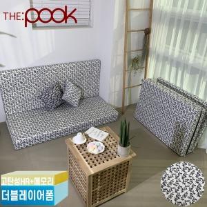 더블레이어폼 싱글 퀸 3단 접이식 침대 매트리스 토퍼