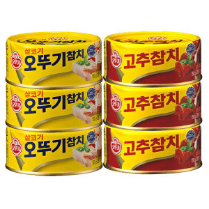 오뚜기 참치 살코기150g(3캔)+고추(3캔)/참치/참치캔