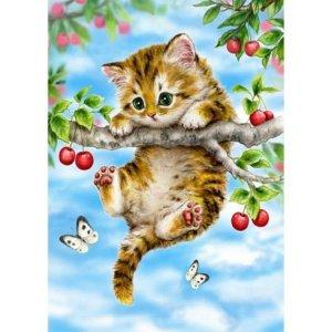 1000조각 직소퍼즐 체리나무위 아기 고양이 풍경퍼즐