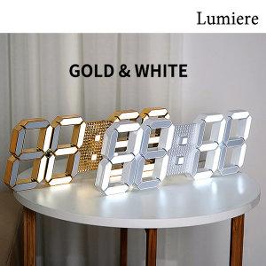 LG이노텍 루미에르 3D LED 벽시계 화이트