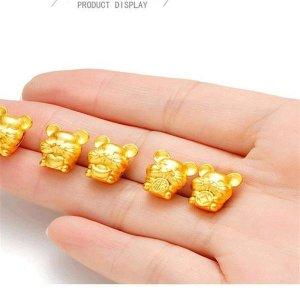 운수대통 999순금도금 황금팔찌 황금쥐 실팔찌2마리