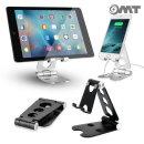 OMT 메탈 접이식 대형 태블릿 휴대폰거치대 OSA-S33 BK