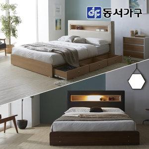 new 라임 LED 3단서랍 슈퍼싱글침대 프레임 DF640112