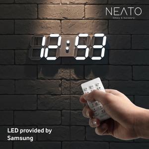 니토 프리미엄 거실 3D LED 벽시계 무선리모컨 무소음