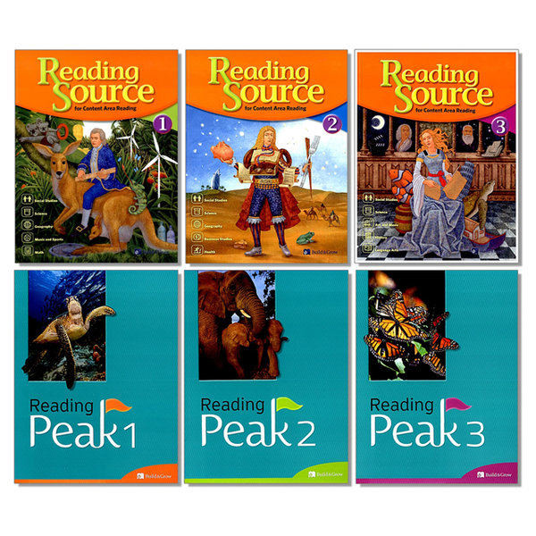 Reading Source Peak 리딩 소스 픽 1 2 3 선택 초등 독해 교재 능률
