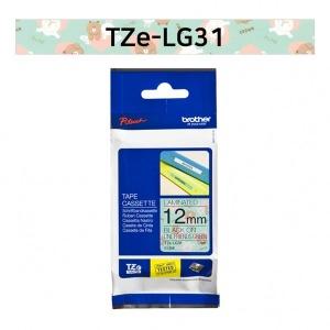 브라더정품 TZe-LG31 라인프렌즈12mm그린바탕검정글씨