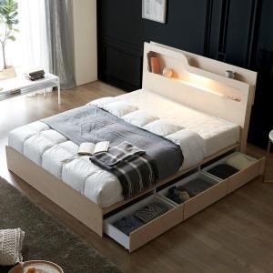 빅세일쿠폰 LED 수납침대 서랍침대 침대프레임 SS Q
