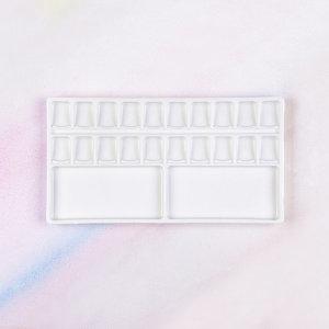 수채화 한국과 20칸 도자기 파레트 CP-120 사각접시-우리아트