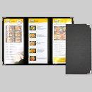 new 3단고급 메뉴판 모던블랙/ 식당메뉴판 메뉴판제작