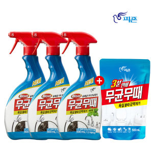 피죤 무균무때 욕실 세정제 500ml 3개 +사은품