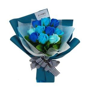 발렌타인/화이트데이 여친선물 블루축하비누꽃다발