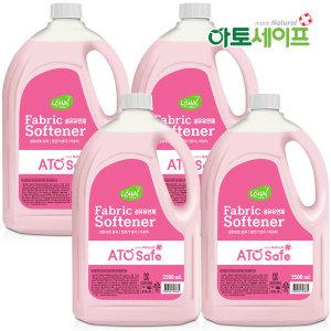 아토세이프 섬유유연제 (핑크로즈향 2.5L 4개)