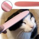 묘심 고양이 브러시 까슬빗 고양이혓바닥빗 혀빗 핑크