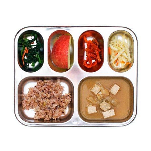 스텐 깊은 가정용 성인용 초등학생 식판 스텐식판