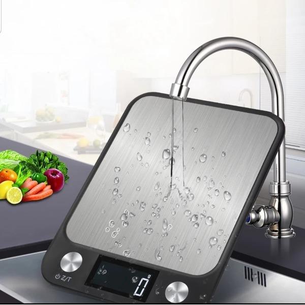 주방저울10kg 블랙 디지털 주방 스테인레스 스틸 음식