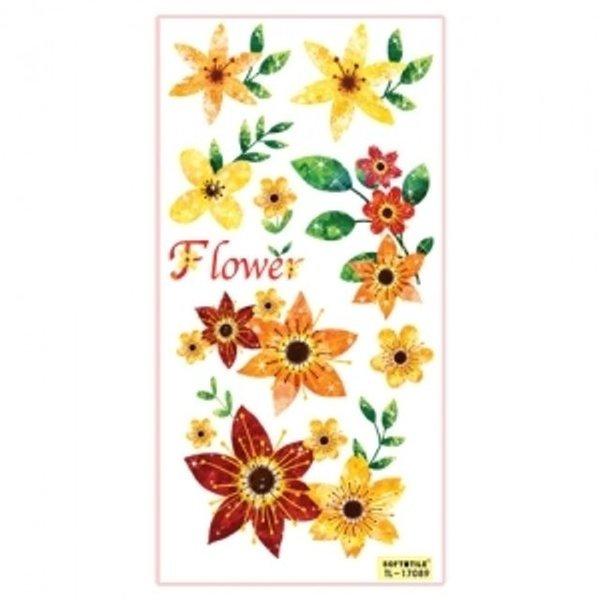 홈코디 꾸미기 스티커 2P 꽃 TL-17089 욕실스티커