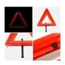 프리미엄 LED 안전 삼각대 접이식 스위치 고무 패드
