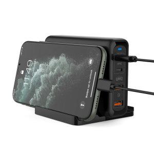 140W 4포트 USB PD 고속 멀티 충전기 PPS C타입 노트10