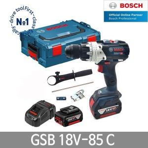 보쉬 GSB18V-85C 충전해머드릴 6.0Ah 배터리2개 함마