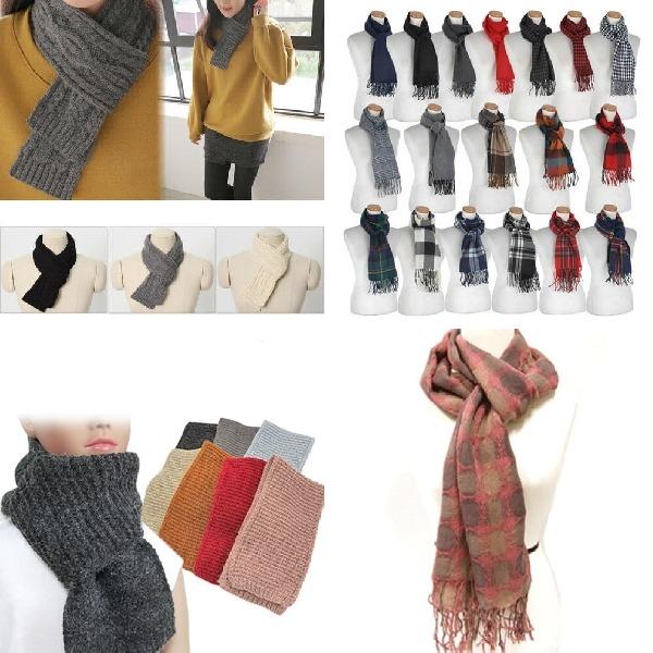 (2개묶음)머플러 겨울 목도리 니트 보온 패션 캐주얼