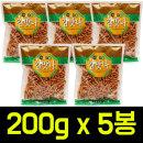 (무배) 김맛나 과자 200gx5봉 간식/안주/스낵/새우깡