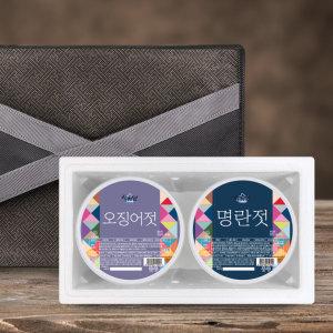 (설해담) 속초젓갈 실속 선물세트 1호 /오징어+명란/ 각500g