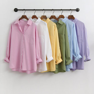 베이직 기본 셔츠남방/루즈핏 박시핏 롱남방 크레용