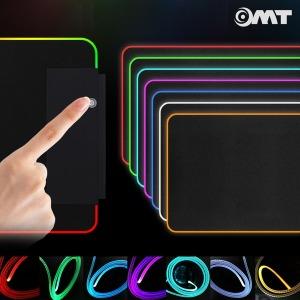 OMT 무선충전 RGB LED 장패드 데스크매트 OMP-WCRGB