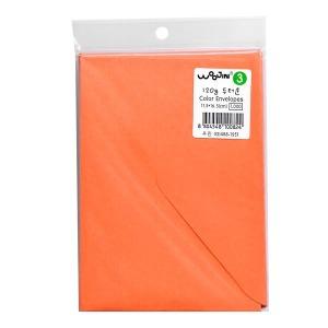 컬러봉투 3호 8매 주황색 돈봉투 명절봉투 용돈봉투