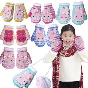 깜찍 토끼 아동 벙어리 장갑/유아용장갑 유치원선물