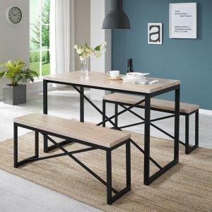 스테이 테이블세트 4인용식탁 테이블 벤치의자 식탁