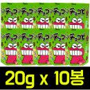 초코비 크레용 신찬 20g x 10팩/짱구/신짱/스티커
