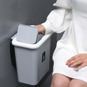 벽걸이 화장실 휴지통 쓰레기통 브라켓포함 (소)