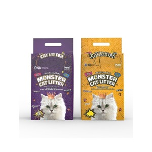 푸르미 몬스터 캣리터 두부모래 8L 3개입 고양이모래
