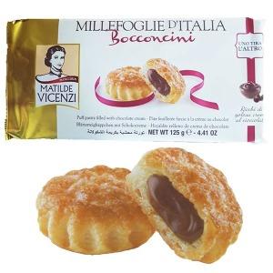 밀리포글리에 퍼프패스트리 초코 크림맛 125g/간식 빵