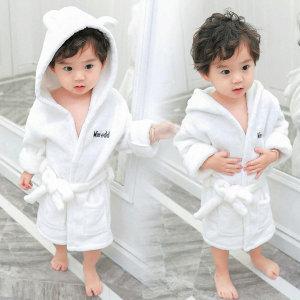 플란넬 아동 유아 목욕 가운 샤워 어린이 비치 타올