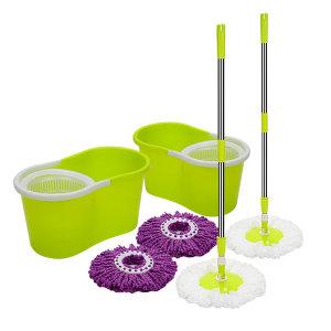 통돌이 회전걸레 1+1(통2+밀대2+걸레4) 물걸레 청소