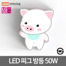LED방등 키즈방등 피그 50W LG칩 오스람안정기 KS인증