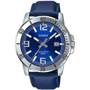 카시오정품 MTP-VD01L-2B 전자손목시계 남성가죽 패션