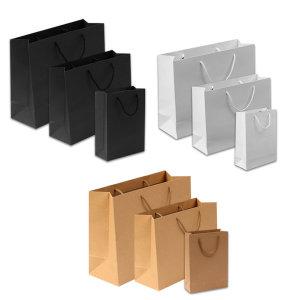 무지 쇼핑백 모음 (소형 중형 대형) 종이가방 종이백