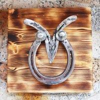 고급 답례품 선물 부의 상징 부엉이 말편자 공예품