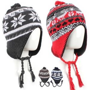 귀달이 니트 겨울모자 패션모자 털모자 방한모자