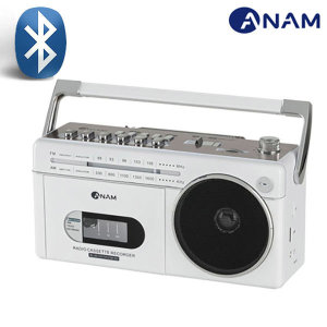 아남 블루투스 카세트 라디오 어학용 PA-720bt/화이트